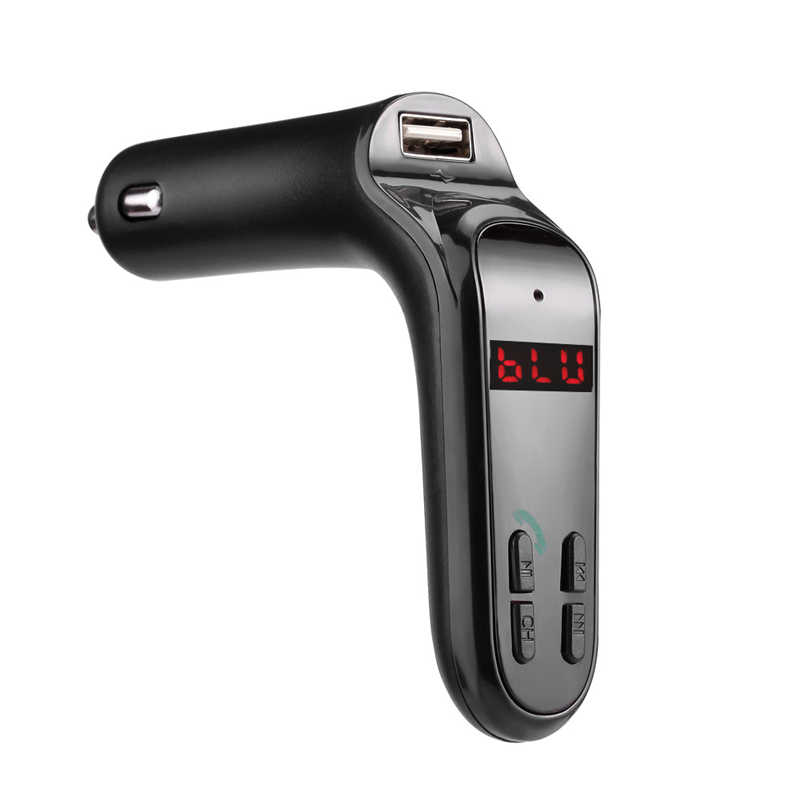 شحن مجاني بلوتوث سيارة عدة يدوي FM جهاز إرسال لاسلكي مشغل MP3 USB تهمة AUX للهاتف أندرويد الهاتف الذكي