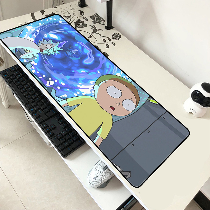 Rick And Morty Mousepad 80x30cm Hot Sales Gaming Mouse Pad Gamer Mat Cute Game Computer Desk Padmouse Keyboard Large Play Mats