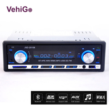 VehiGo Car Radio Player Bluetooth JSD-20158 12V Handsfree Build in Mic In-dash FM Stereo USB/SD/MMC