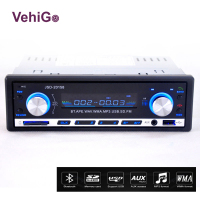 VehiGo Car Radio Player Bluetooth JSD 20158 Car Radio 12V Bluetooth Handsfree Build in Mic In dash FM Stereo Radio USB/SD/MMC