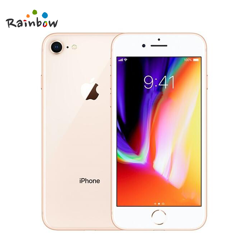 Original Apple iPhone 8 4.7 inch Hexa Core 2GB RAM 64GB ROM 12MP & 7MP Camera 1821mAh iOS LTE Fingerprint Touch ID Mobile Phone 1
