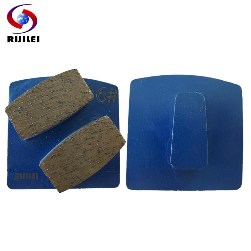 RIJILEI 12PCS/Set Metal Diamond Grinding Disc For Concrete Floor Grinder Strong Magnetic Plate Diamond Grinding Shoes Disk L10B