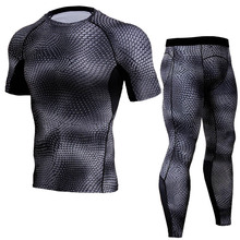 Summer 3D Print Men's Sets T Shirts+pants Two Pieces Sets Casual Tracksuit Male Quick Dry Tshirt Gyms Fitness Sporting suits
