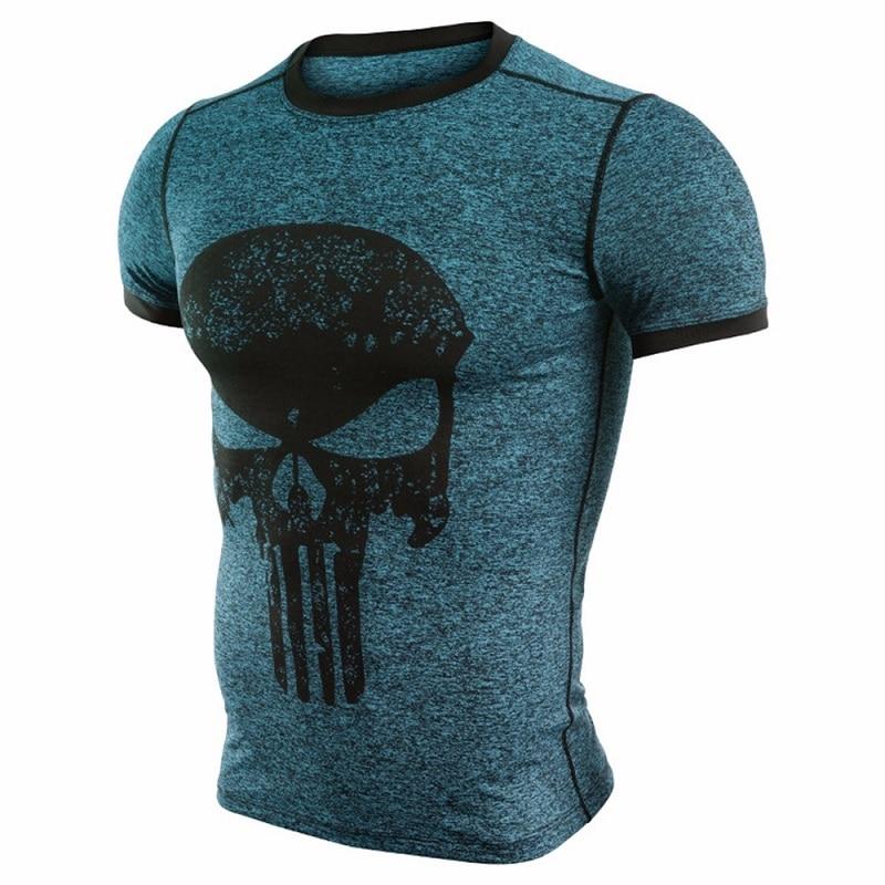 Marvel Comic Punisher Compression Shirt Gym Fitness Base Layer Jersey Cycling Tights Demix Men Women Rashgard Bicycle Sportswear