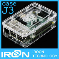 case J3: Official Original Case Box for Raspberry PI 3 model B PI3 Transparent ABS Plastic Box Cover Shell Enclosure Housing