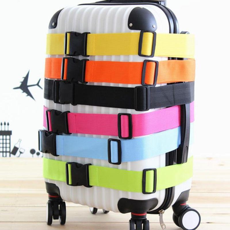 все цены на GLHGJP Rainbow Travel Luggage Strap Nylon Adjustable Buckle Luggage Protective Belt Travel Accessories Suitcase Packing Belt онлайн