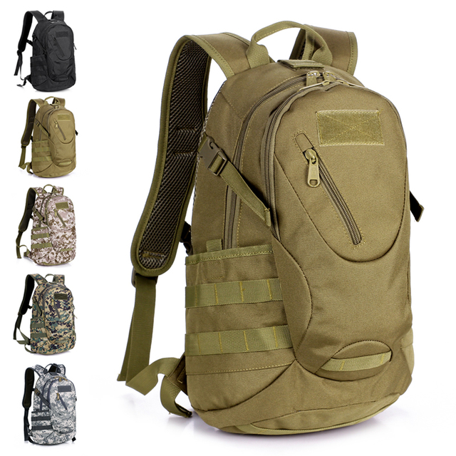 Male outdoor backpack Camouflage small backpack female waterproof ...