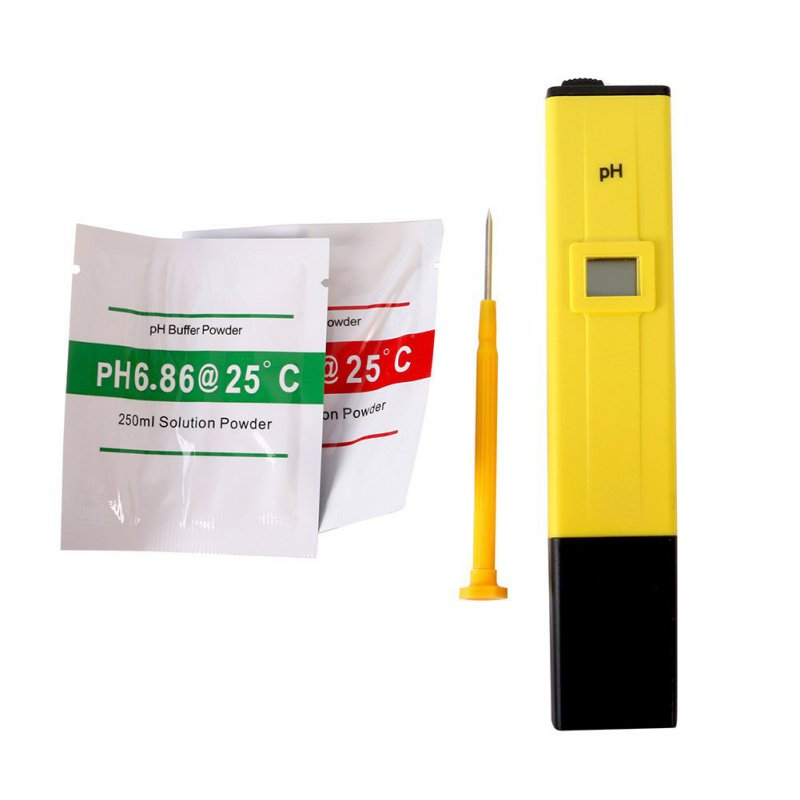 LCD Digital PH Meter Tester Pocket Hydroponics Aquarium Pool Water Test Tools