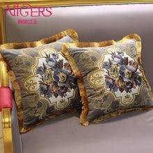 цена Avigers Luxury Velvet Embroidery Cushion Cover Flower PillowCase Tassel Pillow Cover Home Decorative Sofa Chair Bed Throw Pillow онлайн в 2017 году