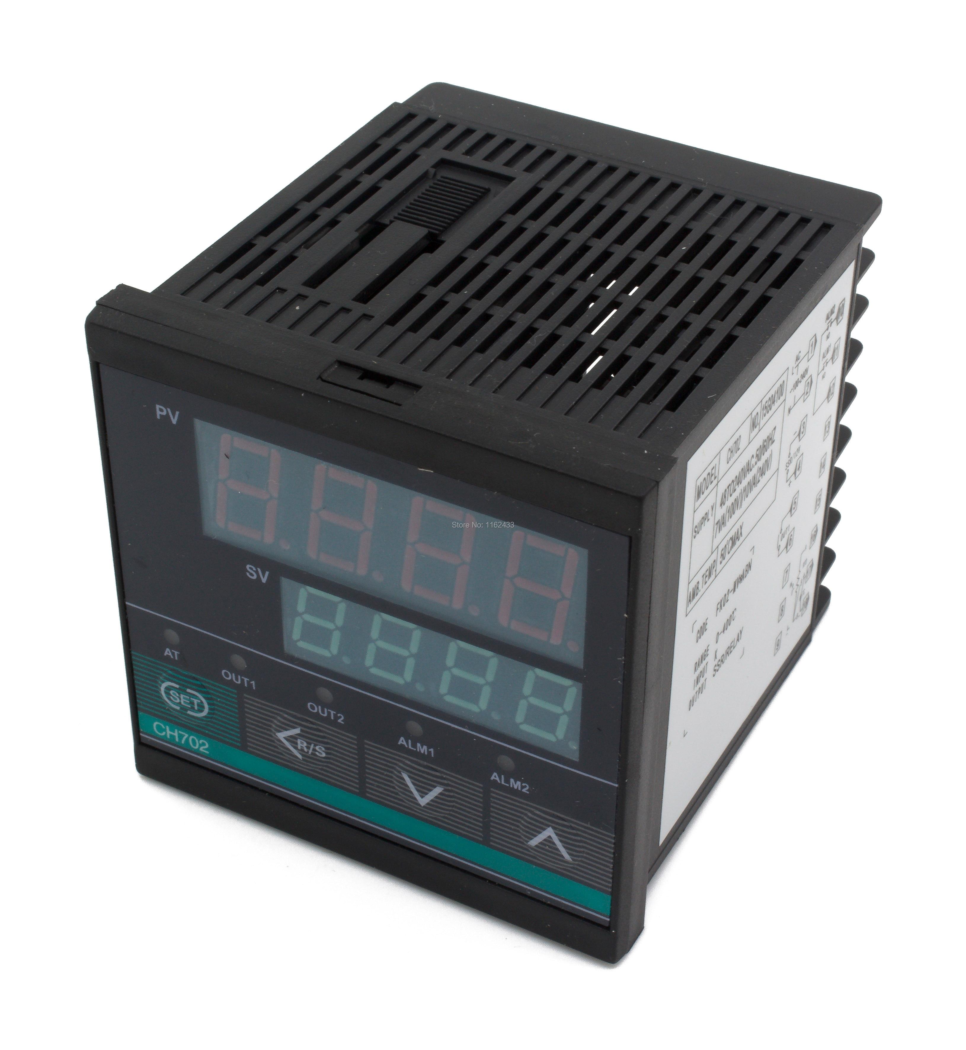 CH702 Short Case Relay + SSR Output Digital PID Temperature Controller