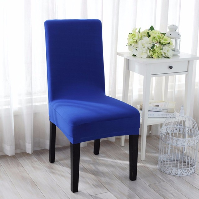 10 Colors Spandex Chair Cover 100PCS Stretch Restaurant Dining Removable Slipcover Meeting