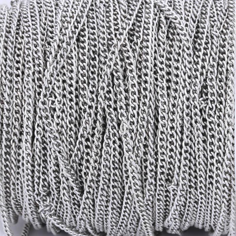 2 5 3 5 4 5mm Necklace Chains 2m pack Rhodium Silver KC Gold Gunblack Antique
