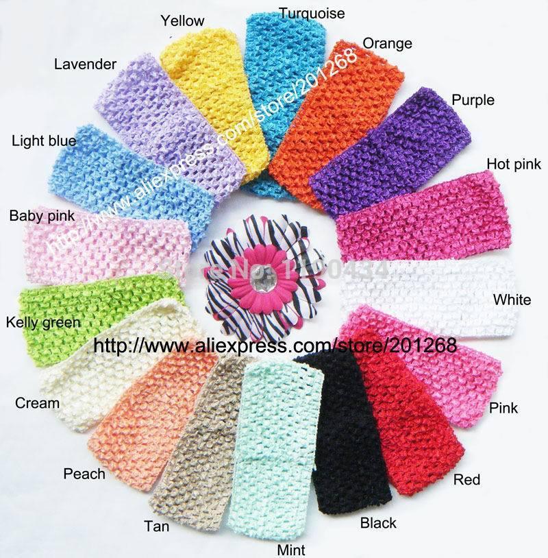 2.75 дюйма вязания крючком вязание крючком туту группы детские ободки hairbands для ребенка малыша девочек 50 шт. за Лот