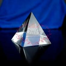 Free shipping 60mm nature clear quartz crystal pyramid