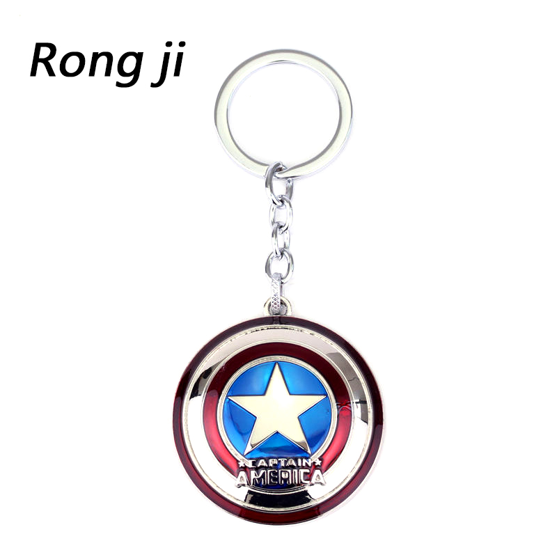 Movie Avengers 4 Character Captain America Shield Alloy Keychain Action Figur Nøkkelring Nøkkelring til MenBoy-gave