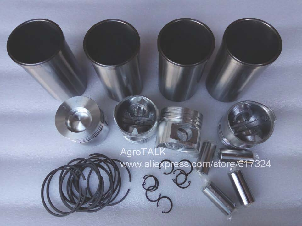 Yangdong YD1 485 engine parts the set of piston groups for tractor like YITUO 404 china yituo engine with high pressure fuel pump bh3w9540 the set of nozzles plungers and delivery valves for one engine use