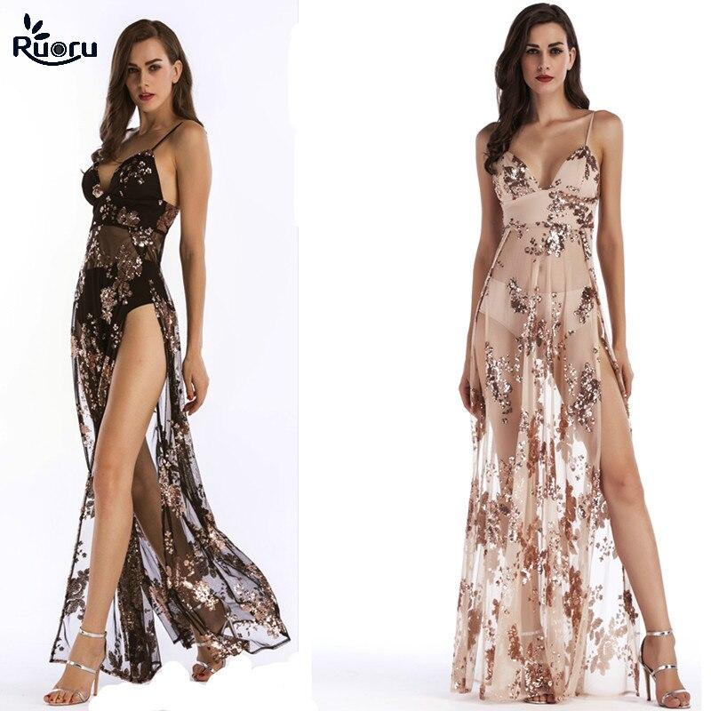 Evening Party Club Elegant Dress Women Dress Vestidos De Festa Sexy Dresses Embroidery Sequined Long Evening Maxi Dress Slit