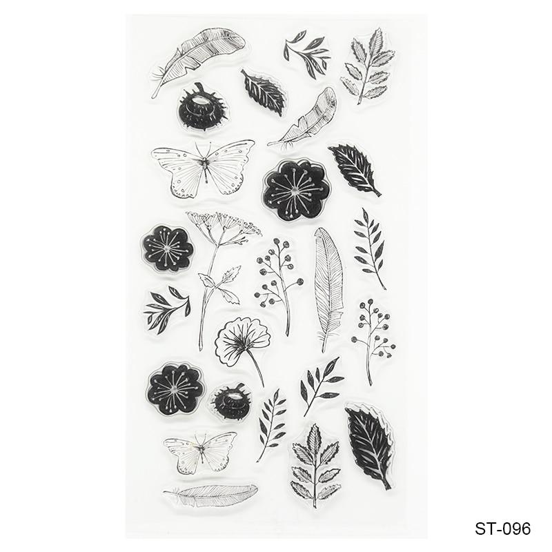 Flowers Transparent Rubber Stamp Finished Transparent
