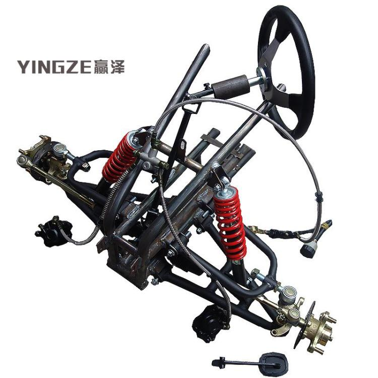 US $159 0  ATV GO KART KARTING UTV 110/10MM Brake System Front Steering  Wheel Suspension Structure Support Swingarms With Shock Absorbers-in Go  Kart