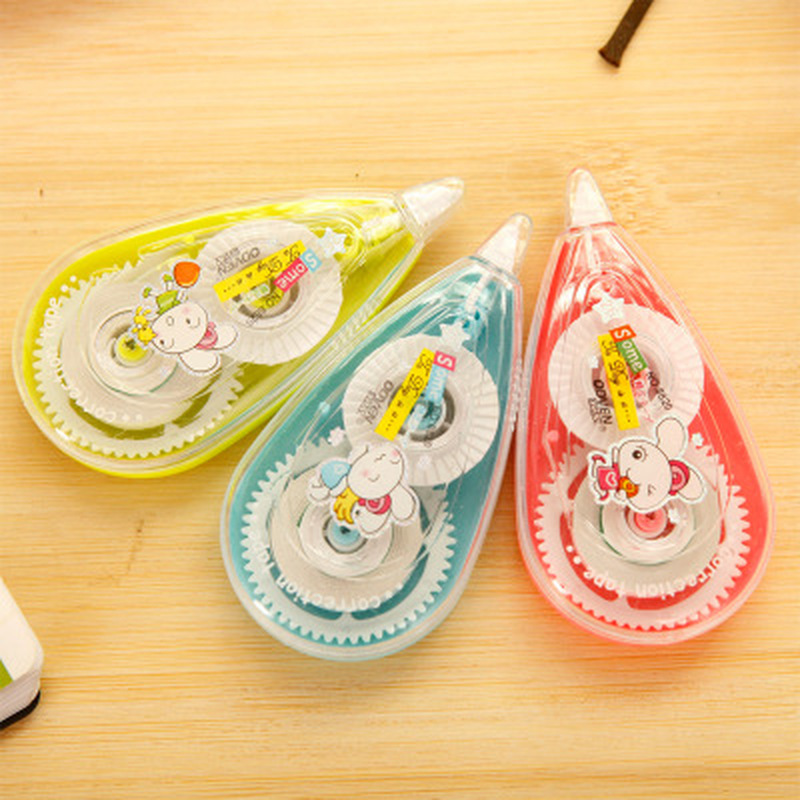 1pcs Kawaii Pattern Correction Tape Novelty Stationery Cartoon Rabbit Correction Tape Cute Student Tape School Office Supplies