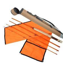 Aventik 4 Colors Fiberglass Fly Rod Medium Action Super Light Fiber Glass Transparent Colors Fly Fishing Rod 4 Section