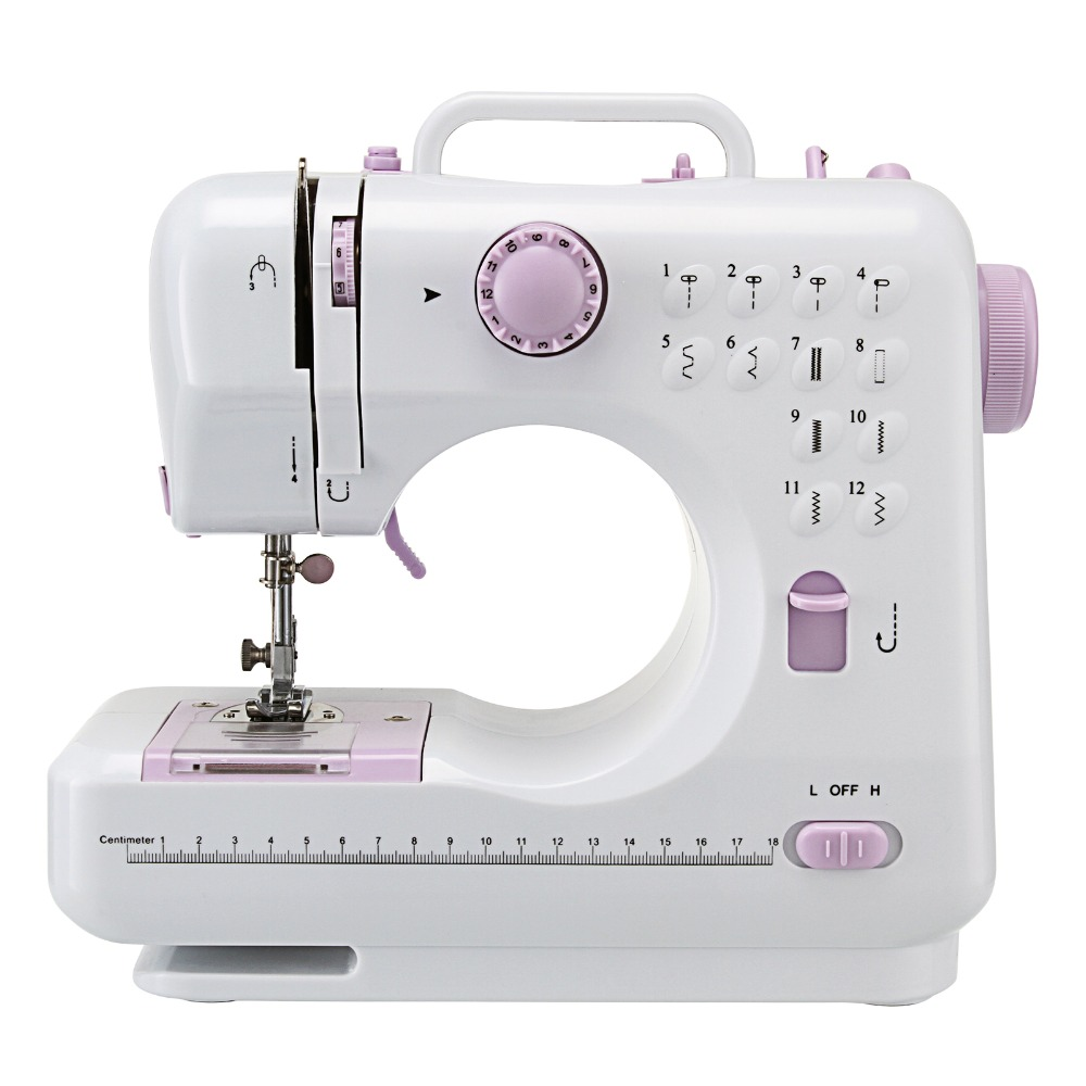 12 Stitches Portable Household Knitting Multifunction Electric Presser Foot Pedal Mini Sewing Machine  Ru Warehouse