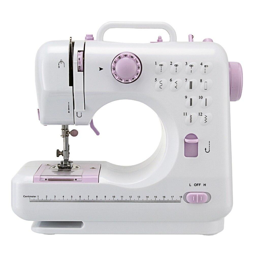 12 points Portable ménage tricot multifonction électrique presseur pied pédale Mini Machine à coudre Ru entrepôt