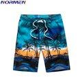 NORMEN Brand Men's Fashion Board Shorts Polyester Print Shorts For Men Hot Sale Drop Shipping