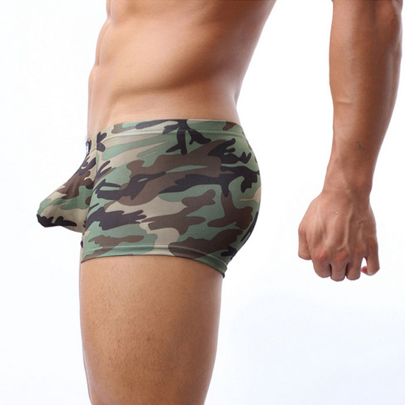 Underwear Men Boxer Shorts Big Penis Pouch Male Panties Spndex Sleepwear Camouflage Men's Underpants Boxershorts Cockcon Brand