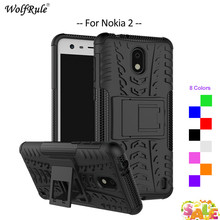 For Cover Nokia 2 Case WolfRule TPU & PC Holder Armor Bumper Protective Back Phone Case For Nokia 2 Cover For Nokia2 2017 5'' стоимость