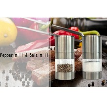 Manual Pepper Mill Stainless Steel Salt Grinder Muller kitchen accessories
