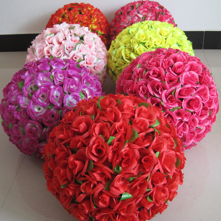 5pcs 12 30cm artificial rose balls silk flower kissing balls 5pcs 12 30cm artificial rose balls silk flower kissing balls christmas ornaments wedding party decorations rose bouquet balls in artificial dried flowers mightylinksfo