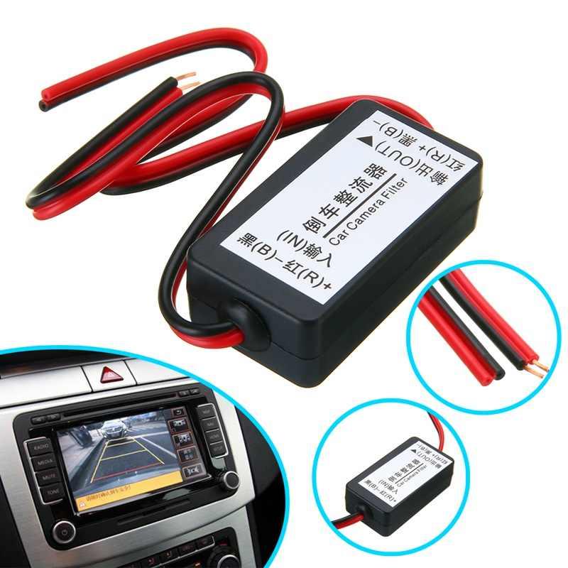 1pc 12V DC puissance relais condensateur filtre connecteur redresseur pour voiture vue arrière caméra de secours redresseur Auto voiture caméra filtre