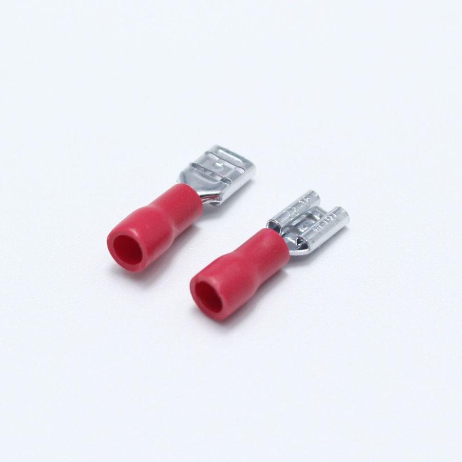 50pcs 4.8mm Crimp Terminal 4.8 Female Pre insulated Electrical ...