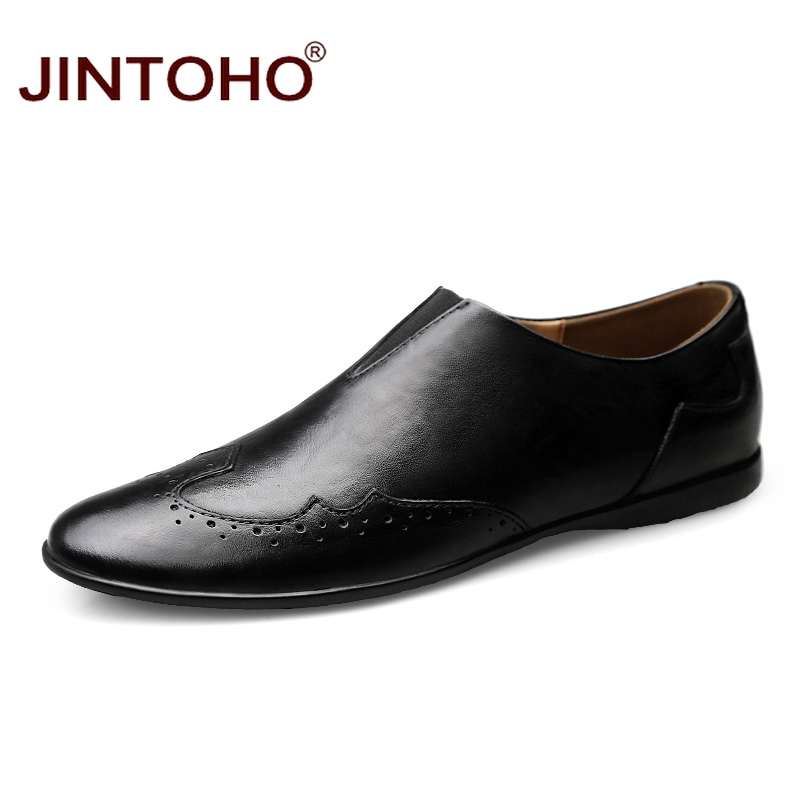JINTOHO Summer Brand Men Loafers Fashion Breathable Shoes For Men Slip On Loafers For Men 2018