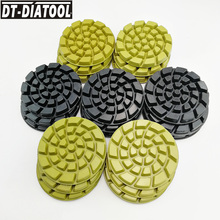 DT-DIATOOL 21pcs/set Dia 4/100mm Resin Bond Diamond Concrete Polishing Pads professional quality Thickened Floor Renew