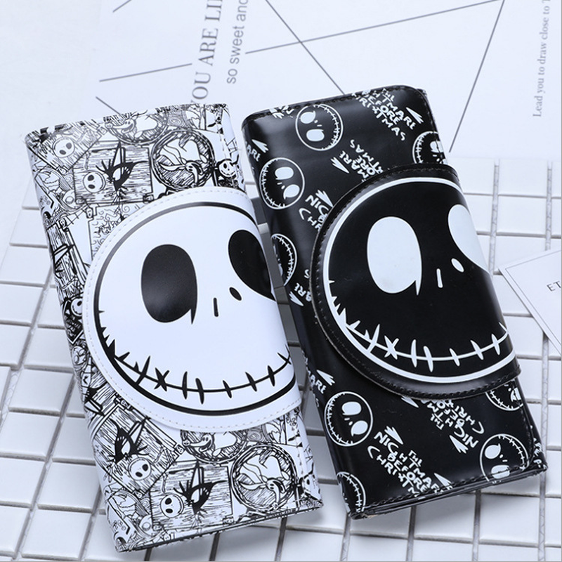 New Comics Nightmare Before Christmas Wallets 18*8.5cm Long Unisex Thriller Movie Cartoon Jack Skull Purses PU Leather Clutch image