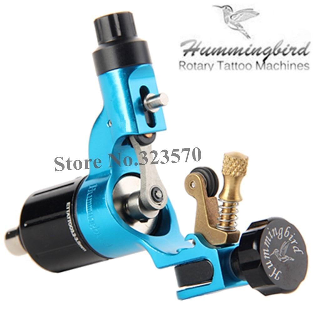 원래 Hummingbird 블루 겐 2 로타리 문신 기계 스위스 모터 무료 RCA 코드