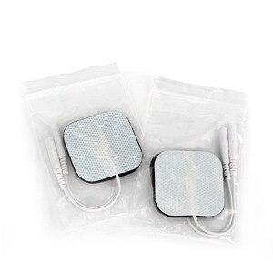 Image 4 - 50Pcs/100Pcsแผ่นElectrode Self Adhesive Replacement Tensสแควร์4*4/5*5ซม.กระตุ้นกล้ามเนื้อดิจิตอลเครื่องนวด