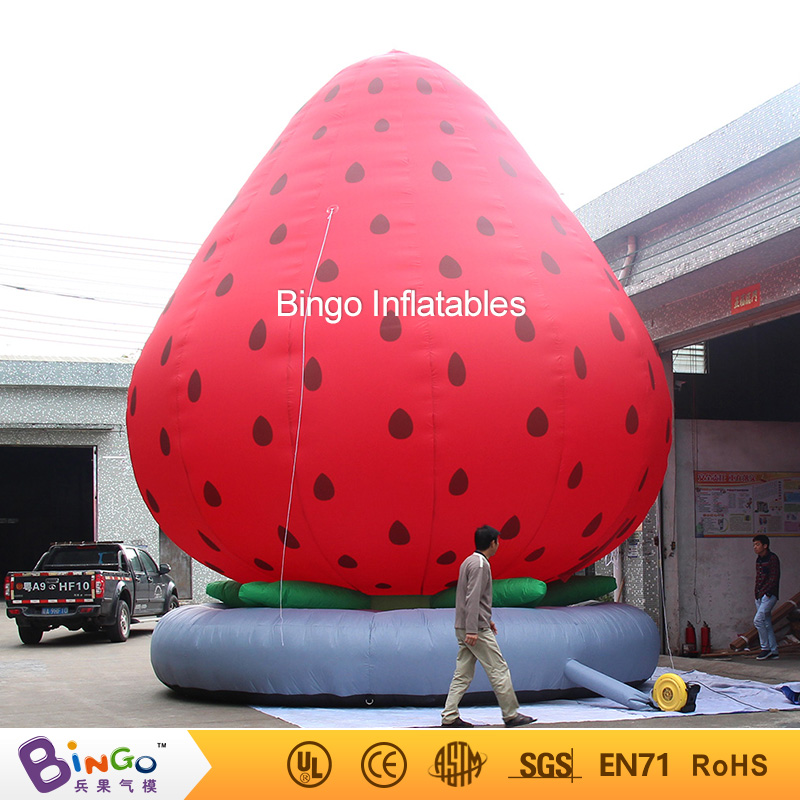 Free shipping 7M high giant inflatable strawberry balloon for decoration customized inflatable fruit replica for advertising toy giant inflatable balloon for decoration and advertisements