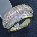 Victoria Wieck Hot Royal Jewelry Simulated Diamond 10kt Gold Filled Party Ring Set Gift Size 6-9