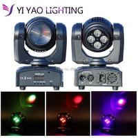2 PÇS/LOTE Mini Spot 10 w 4*10 w rgbw Moving Head Light Com DMX feixe de Luz Do Estágio Profissional|Efeito de Iluminação de palco| |  -