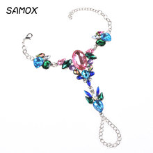 Alloy Studded Rhinestone Anklet Feet Jewelry High-end Quality Luxurious Texture Gifts For Women 008