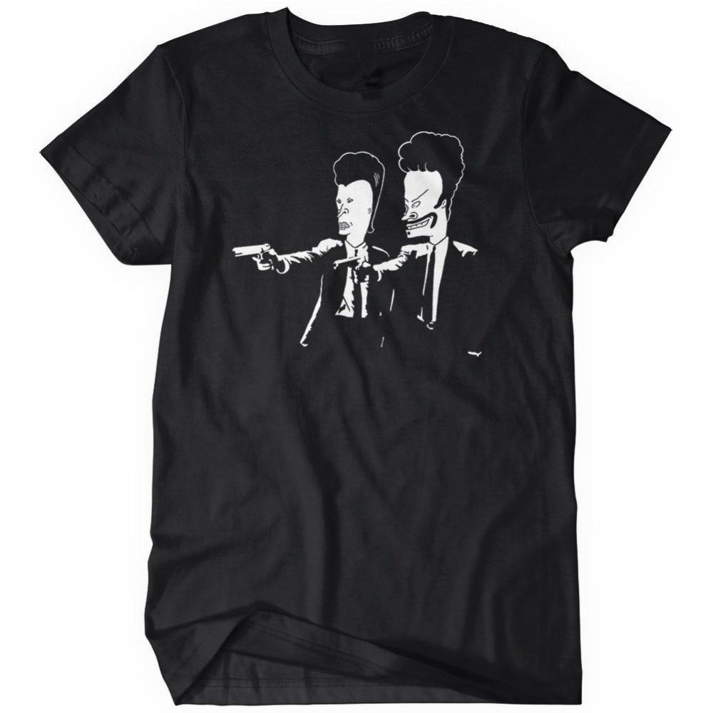 Shirt design companies - Company T Shirt Design Butthead Fiction Beavis Zomer Men S Comfort Soft O Neck Short