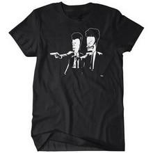 Company T Shirt Design Butthead Fiction Beavis Zomer Men'S Comfort Soft O-Neck Short-Sleeve Shirt