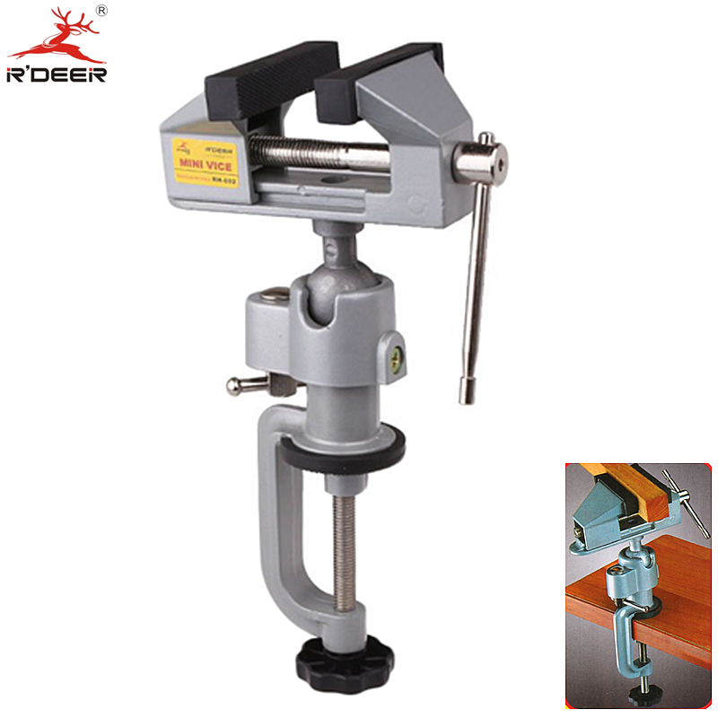RDEER Bench Vise Universal Adjustable 360 Degree Table Vice Clamp Aluminium Alloy Tabletop Vise Tilt Rotates Bench Tools free shipping aluminum alloy table vice mini bench vise diy tools swivel lock clamp vice craft jewelry hobby vise jaw width 40mm