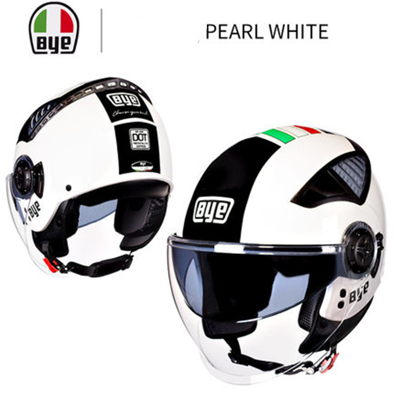 Motorcycle helmet Men s Vintage scooter open face helmet Retro Women s Motorbike helmet DOT approved