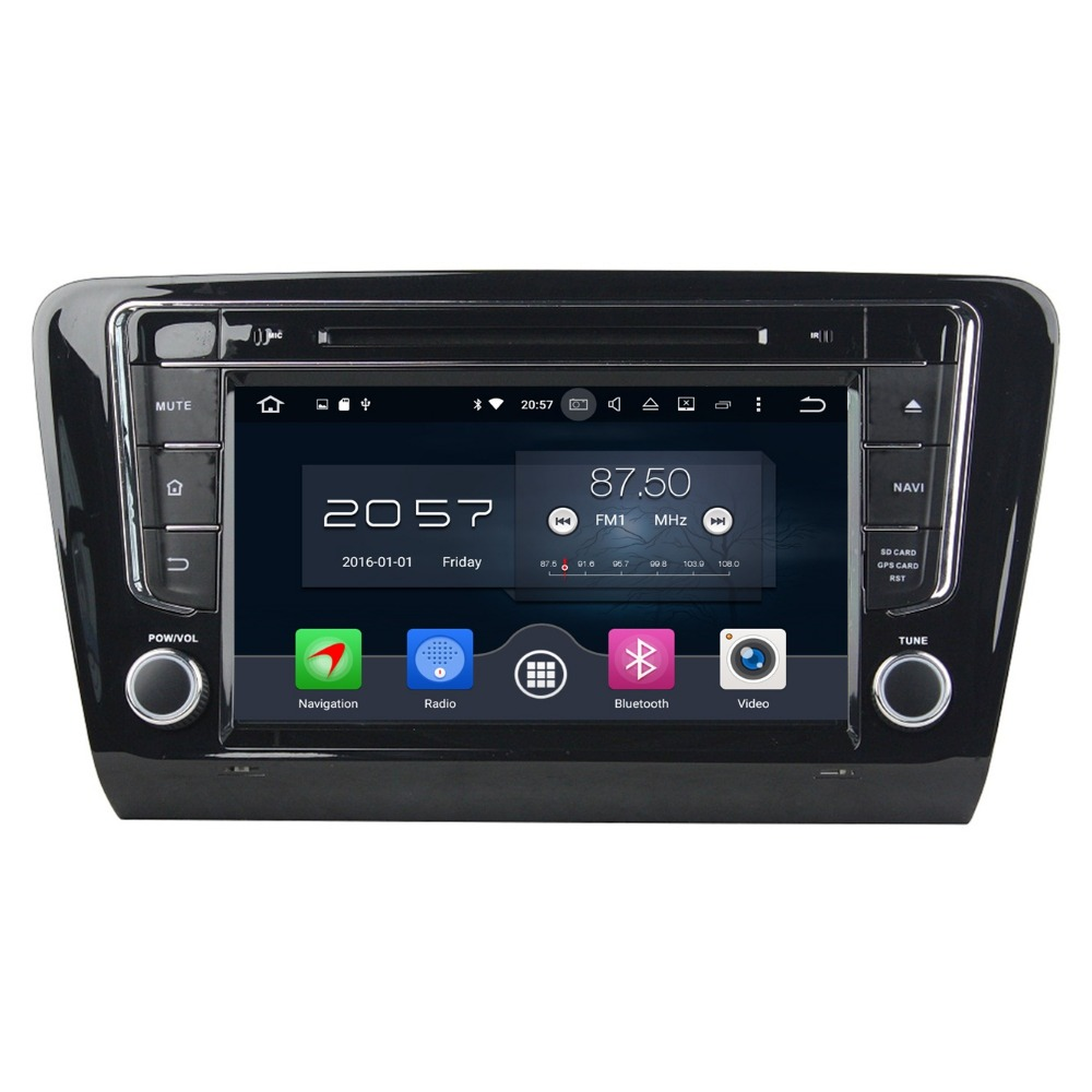 2GB RAM 8 Octa Core Android 6 0 Car PC DVD Player for Skoda Octavia 2014