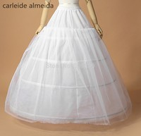 Wholesale 3 Hoops One Layer Tulle Crinoline For Ball GownWedding Dress White Jupon Mariage Petticoat In