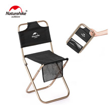 Naturehike Portable Ultralight Campstool Outdoor Camping Chair Folding Stool Fishing Beach Alluminum Alloy NH18M001-Z